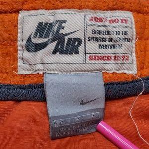 Nike Shorts - VTG Nike Air Orange Shorts Silver Grey Tag Medium